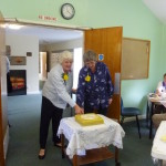 Cutting the cake at Paxwold