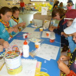 Guides enjoying Quilling