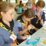 Phoenix camp Guides making Felt keyrings