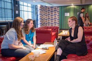 Eleanor-middle-interviewing-Jess-Glynne-300x200